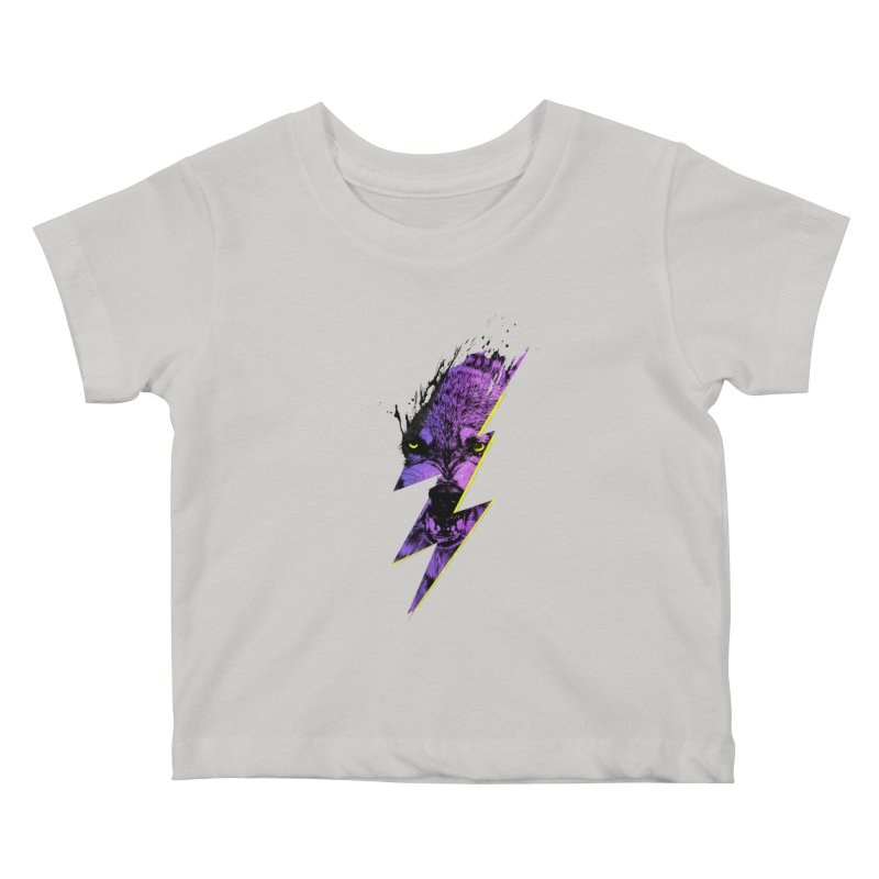 Thunderwolf Kids Baby T-Shirt by Astronaut's Artist Shop