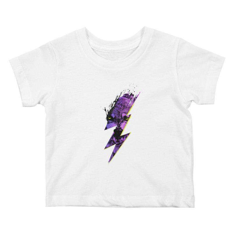 Thunderwolf Kids Baby T-Shirt by Astronaut's Artist Shop