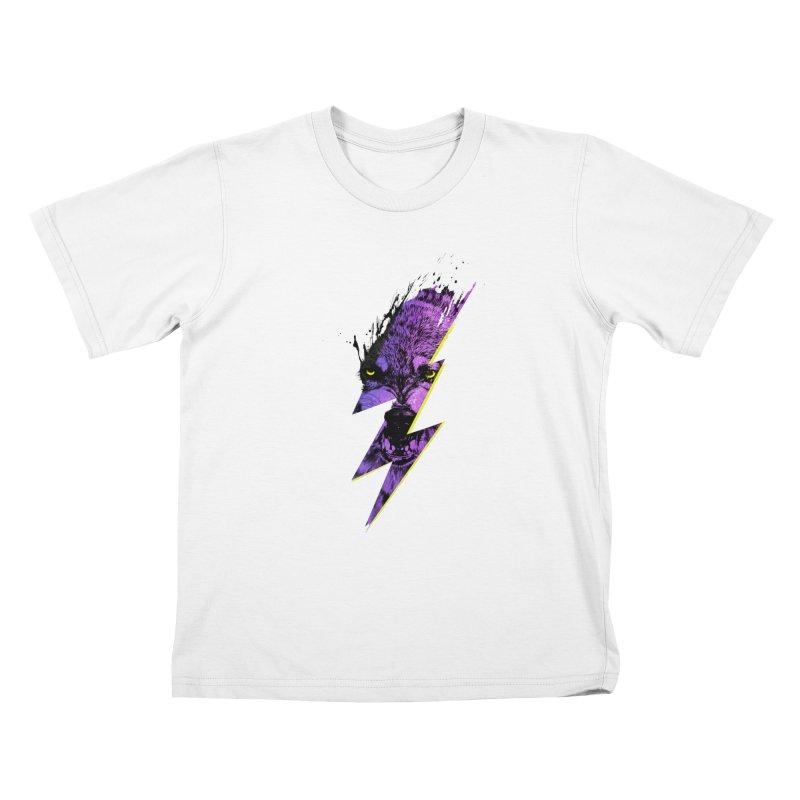 Thunderwolf Kids T-shirt by Astronaut's Artist Shop
