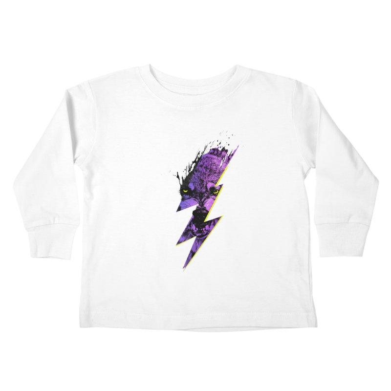 Thunderwolf Kids Toddler Longsleeve T-Shirt by Astronaut's Artist Shop