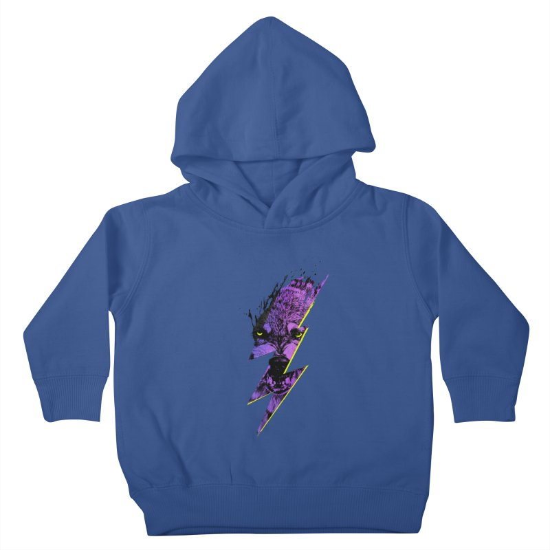 Thunderwolf Kids Toddler Pullover Hoody by Astronaut's Artist Shop