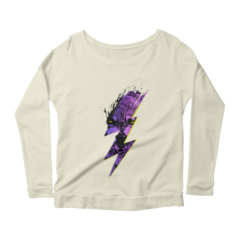 Thunderwolf Women's Longsleeve Scoopneck  by Astronaut's Artist Shop