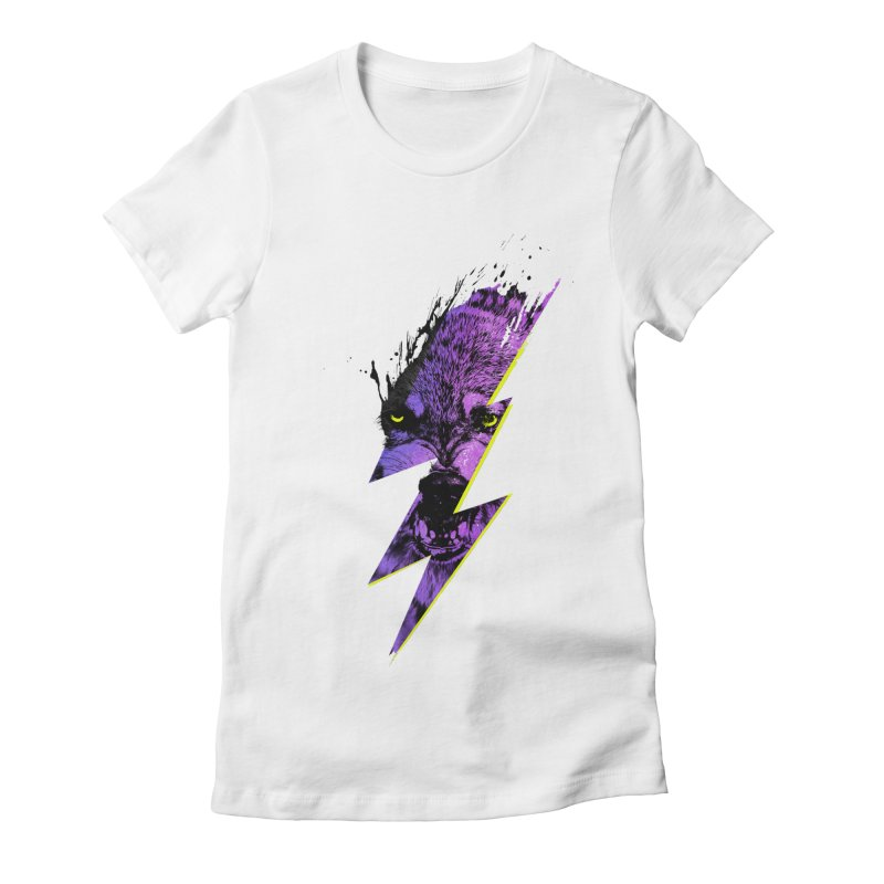 Thunderwolf Women's Fitted T-Shirt by Astronaut's Artist Shop