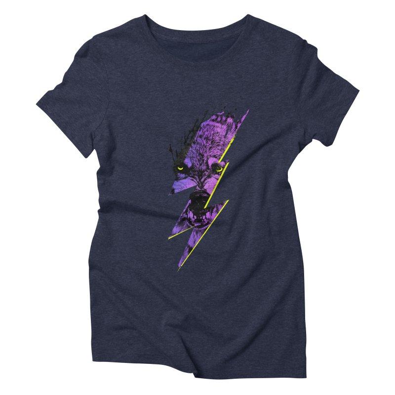 Thunderwolf Women's Triblend T-Shirt by Astronaut's Artist Shop