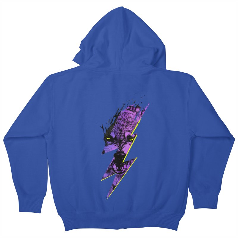 Thunderwolf Kids Zip-Up Hoody by Astronaut's Artist Shop