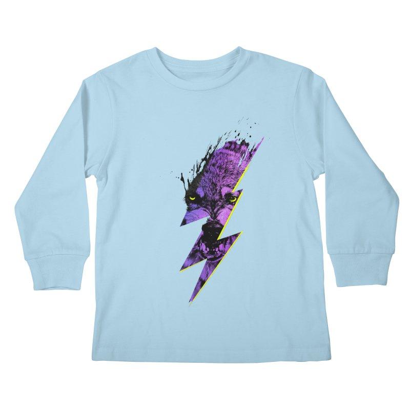 Thunderwolf Kids Longsleeve T-Shirt by Astronaut's Artist Shop