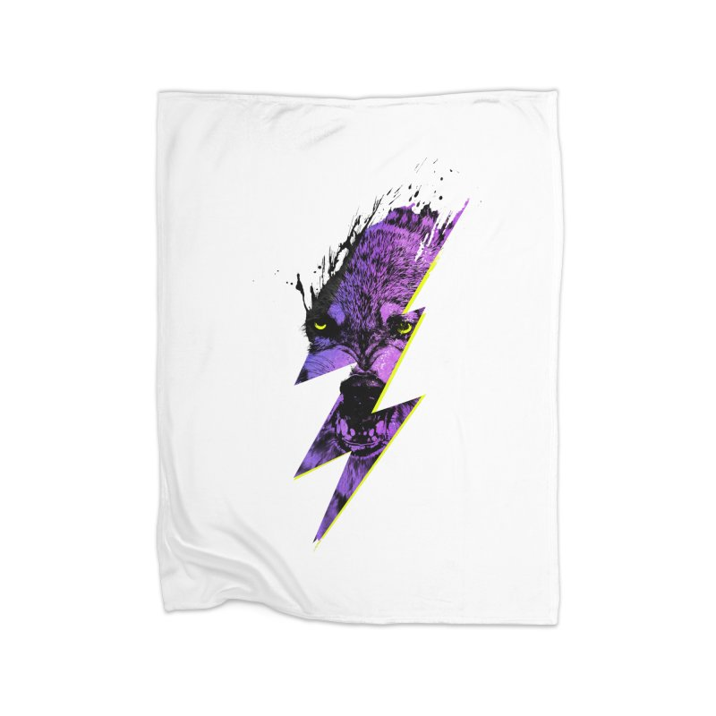 Thunderwolf Home Blanket by Astronaut's Artist Shop