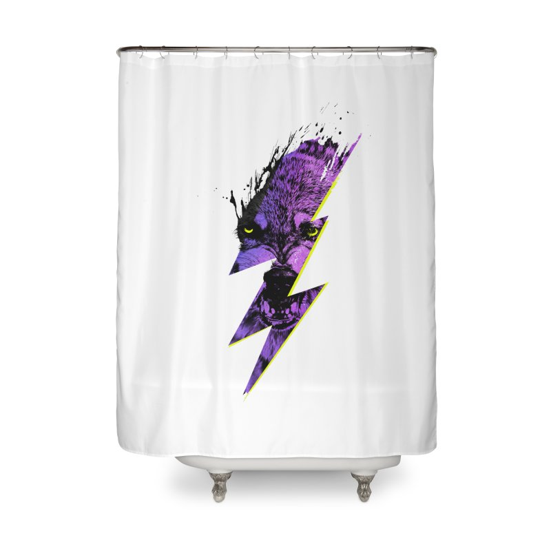 Thunderwolf Home Shower Curtain by Astronaut's Artist Shop