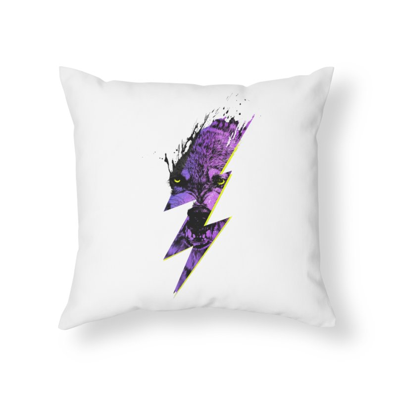 Thunderwolf Home Throw Pillow by Astronaut's Artist Shop