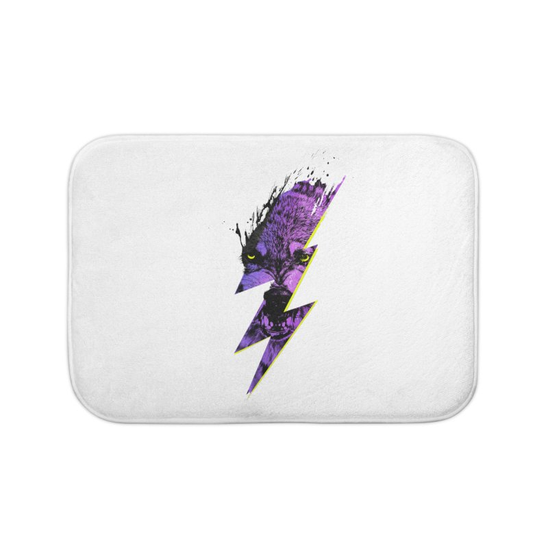 Thunderwolf Home Bath Mat by Astronaut's Artist Shop