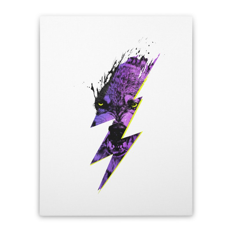 Thunderwolf Home Stretched Canvas by Astronaut's Artist Shop