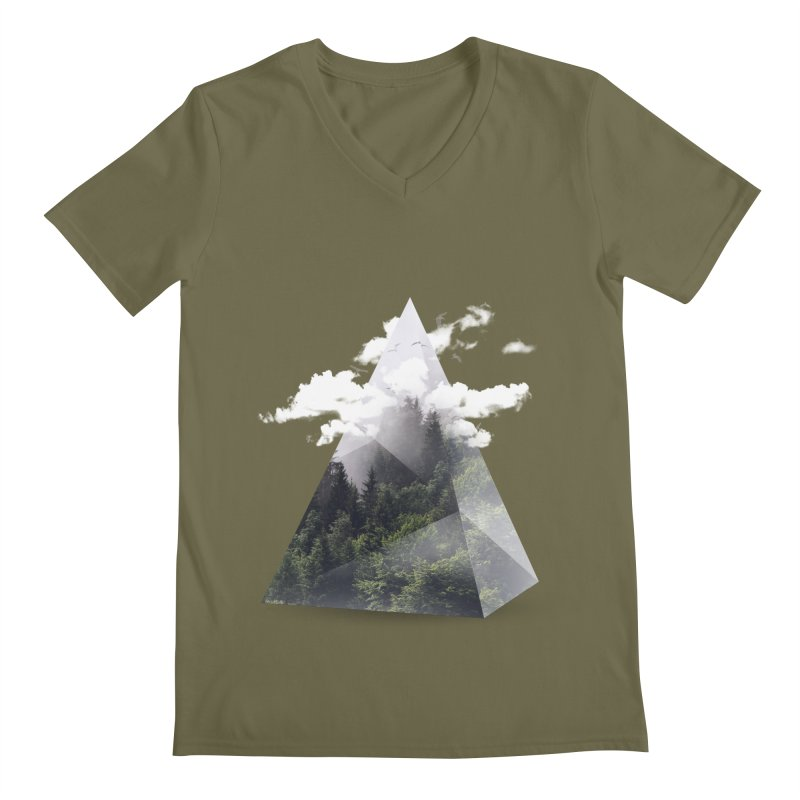 Triangle Men's V-Neck by Astronaut's Artist Shop