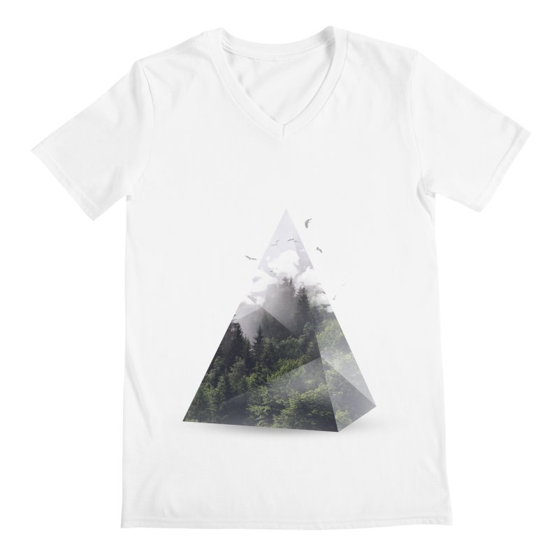 Triangle Men's V-Neck by Astronaut's Artist Shop