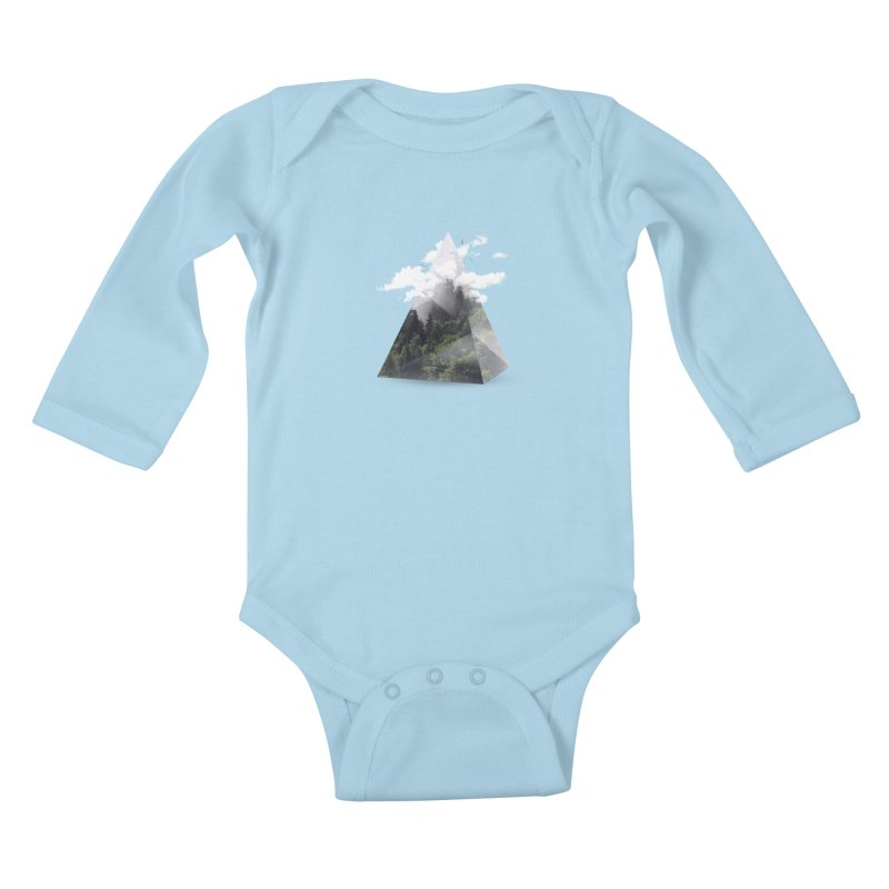 Triangle Kids Baby Longsleeve Bodysuit by Astronaut's Artist Shop