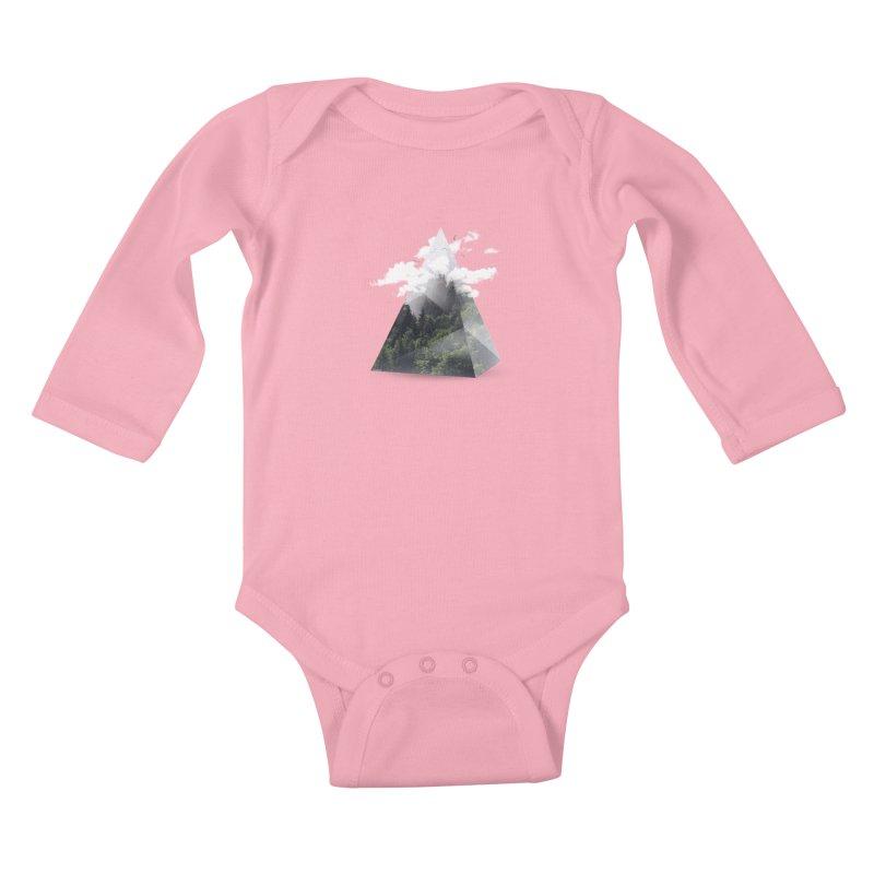 Triangle Kids Baby Longsleeve Bodysuit by Astronaut's Artist Shop