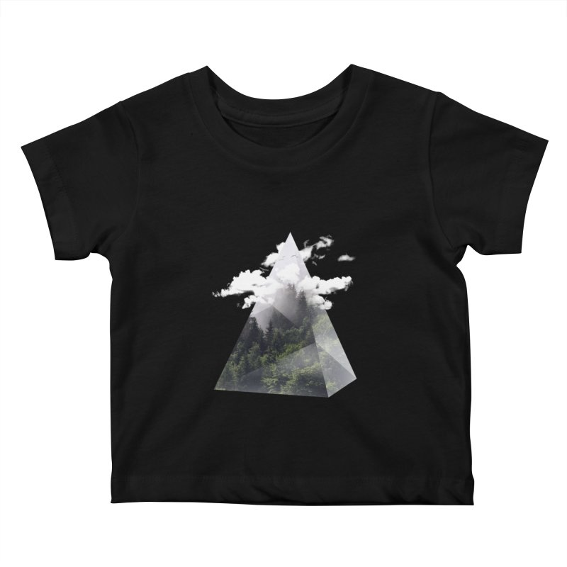 Triangle Kids Baby T-Shirt by Astronaut's Artist Shop