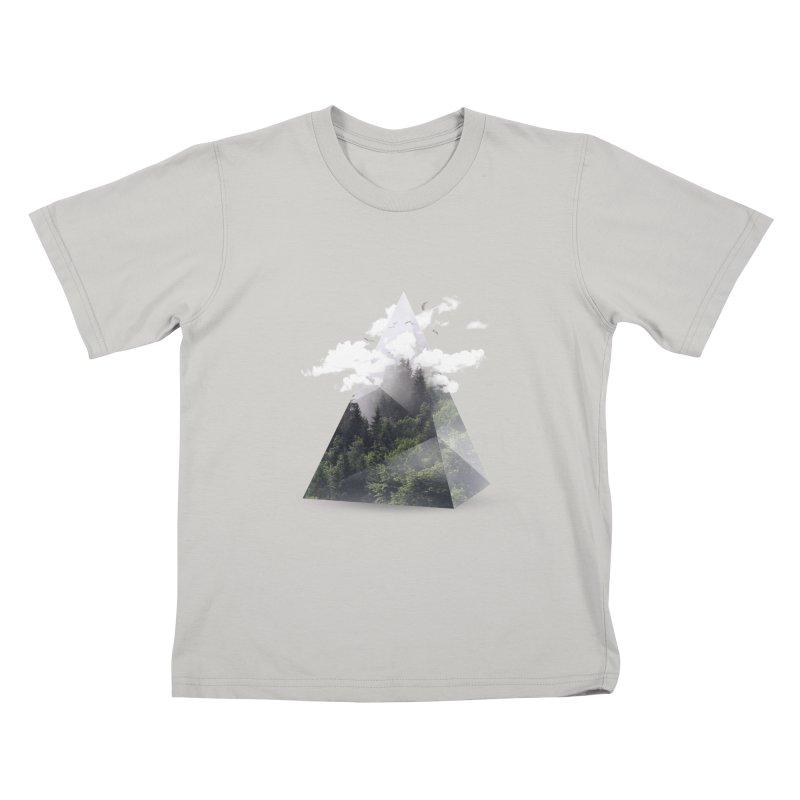 Triangle Kids T-shirt by Astronaut's Artist Shop