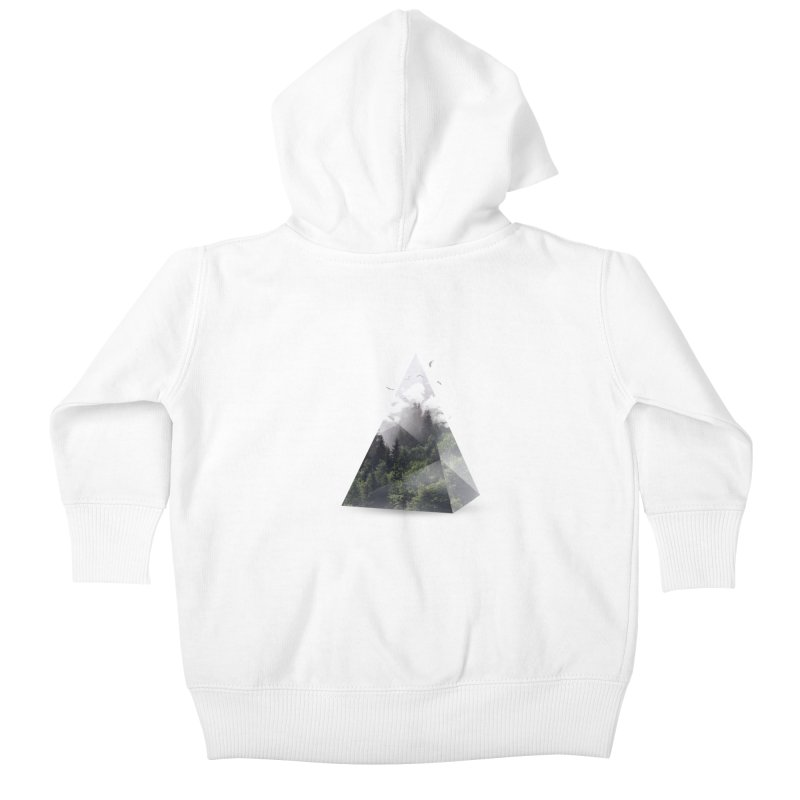 Triangle Kids Baby Zip-Up Hoody by Astronaut's Artist Shop