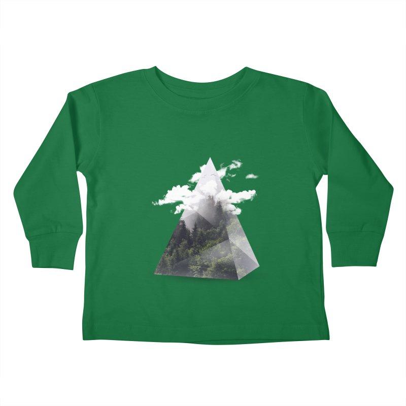 Triangle Kids Toddler Longsleeve T-Shirt by Astronaut's Artist Shop