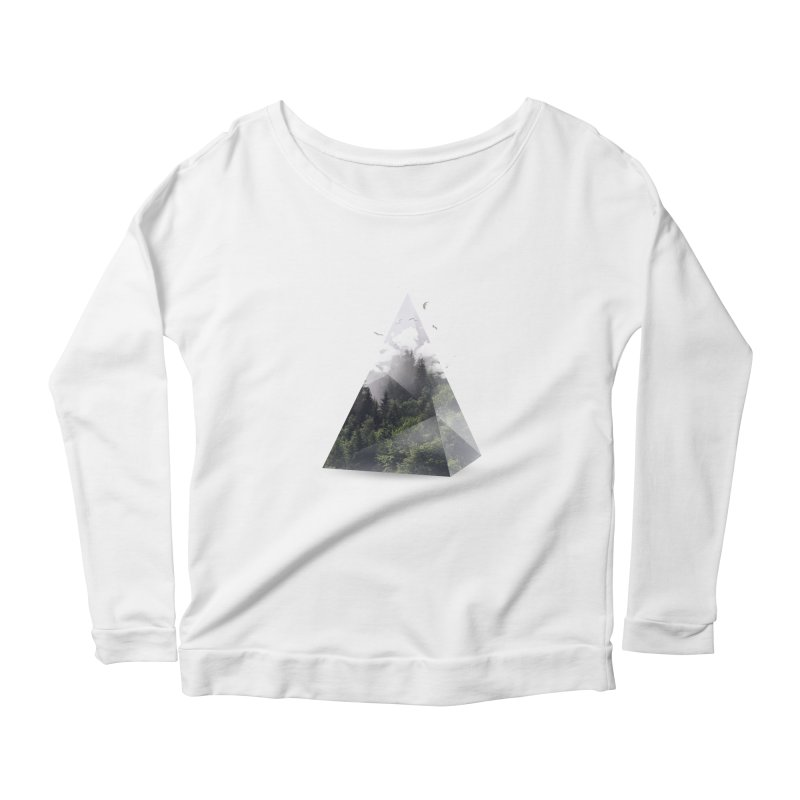 Triangle Women's Longsleeve Scoopneck  by Astronaut's Artist Shop