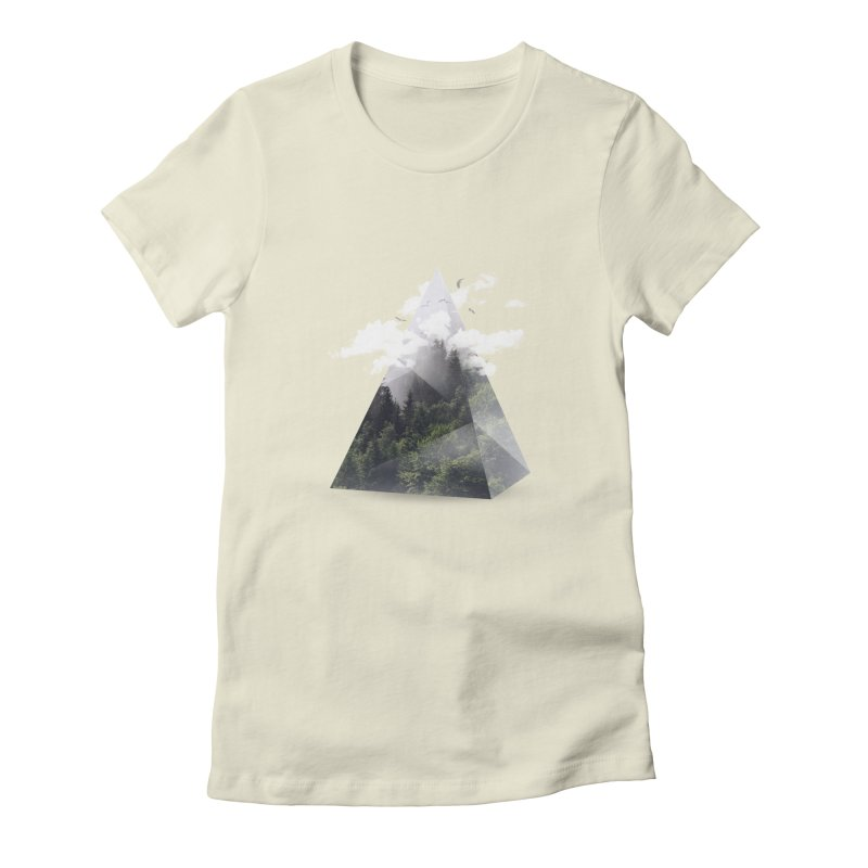 Triangle Women's Fitted T-Shirt by Astronaut's Artist Shop