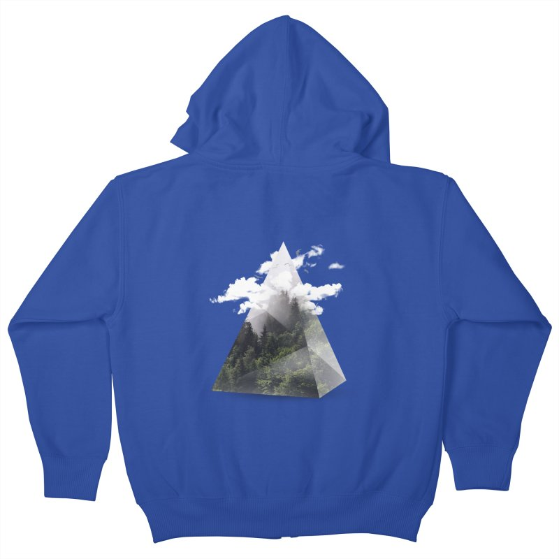 Triangle Kids Zip-Up Hoody by Astronaut's Artist Shop