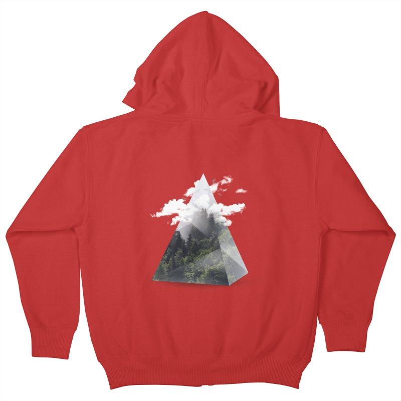 Triangle Kids Zip-Up Hoody by Astronaut's Artist Shop