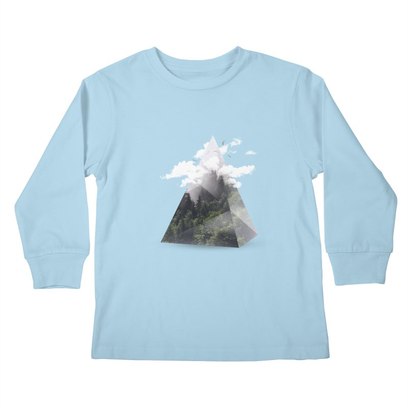 Triangle Kids Longsleeve T-Shirt by Astronaut's Artist Shop
