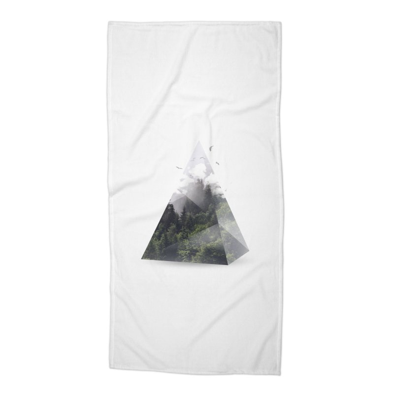 Triangle Accessories Beach Towel by Astronaut's Artist Shop