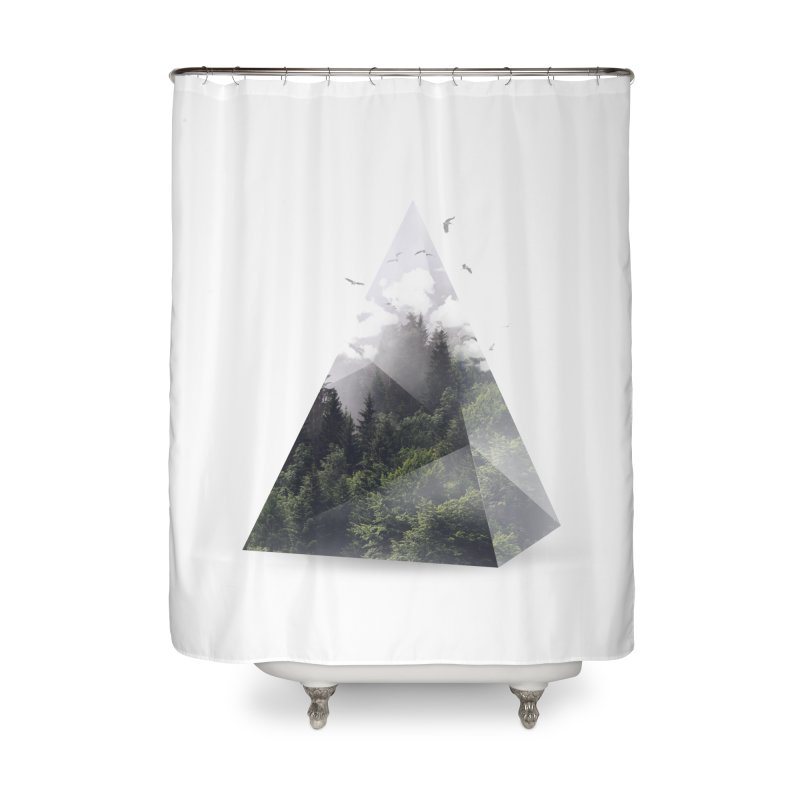 Triangle Home Shower Curtain by Astronaut's Artist Shop