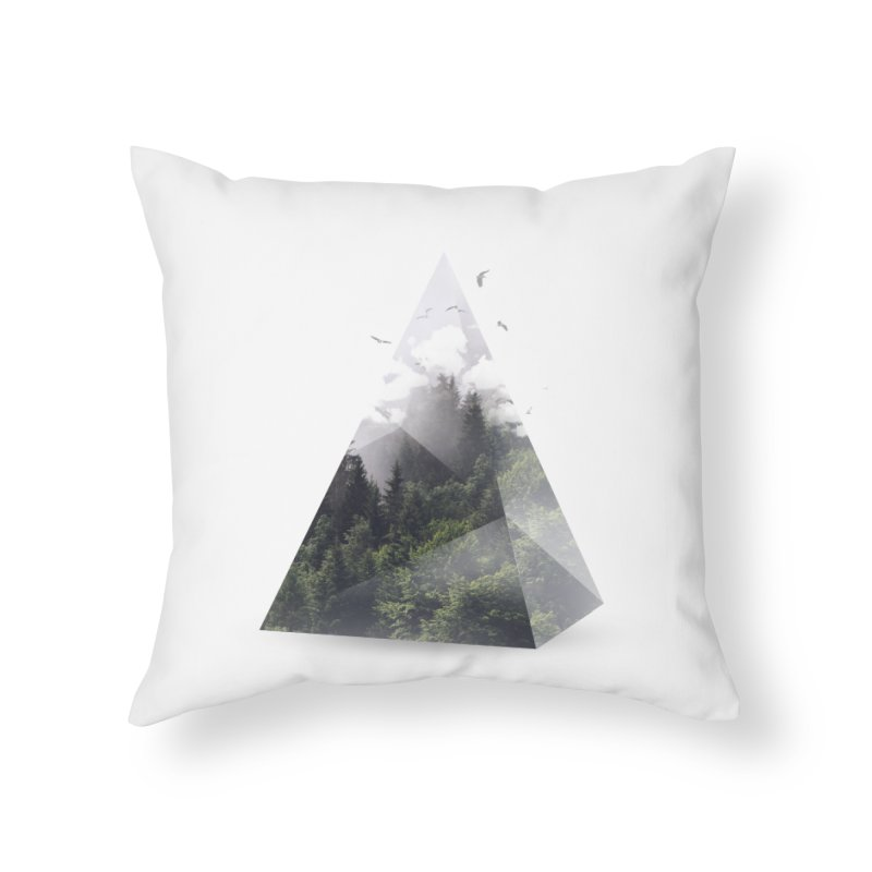 Triangle Home Throw Pillow by Astronaut's Artist Shop