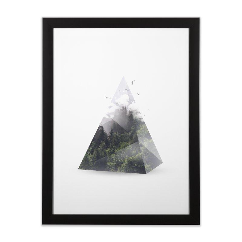 Triangle Home Framed Fine Art Print by Astronaut's Artist Shop