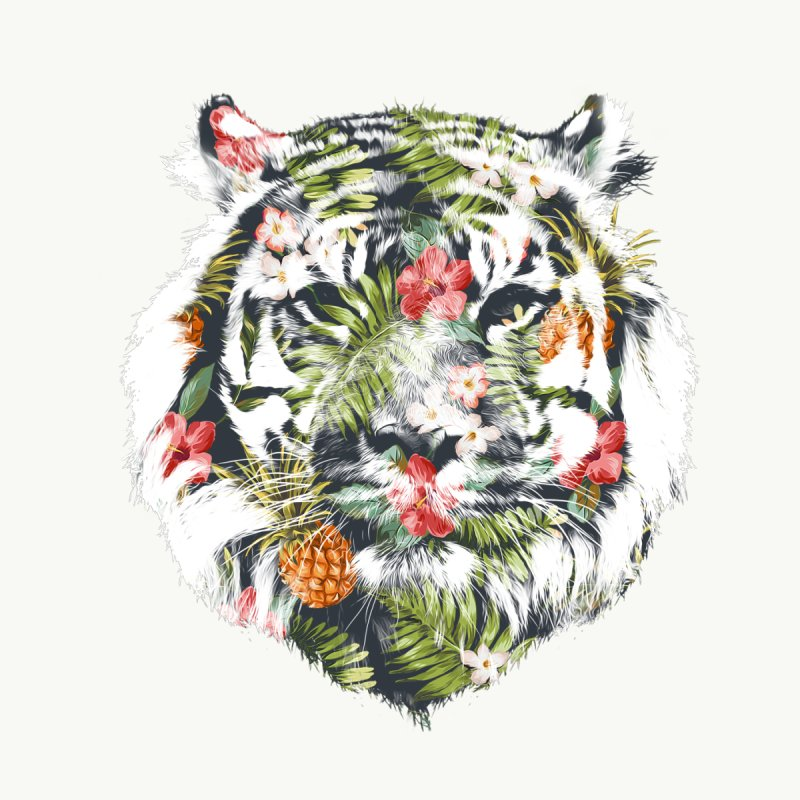 Tropical tiger None  by Astronaut's Artist Shop