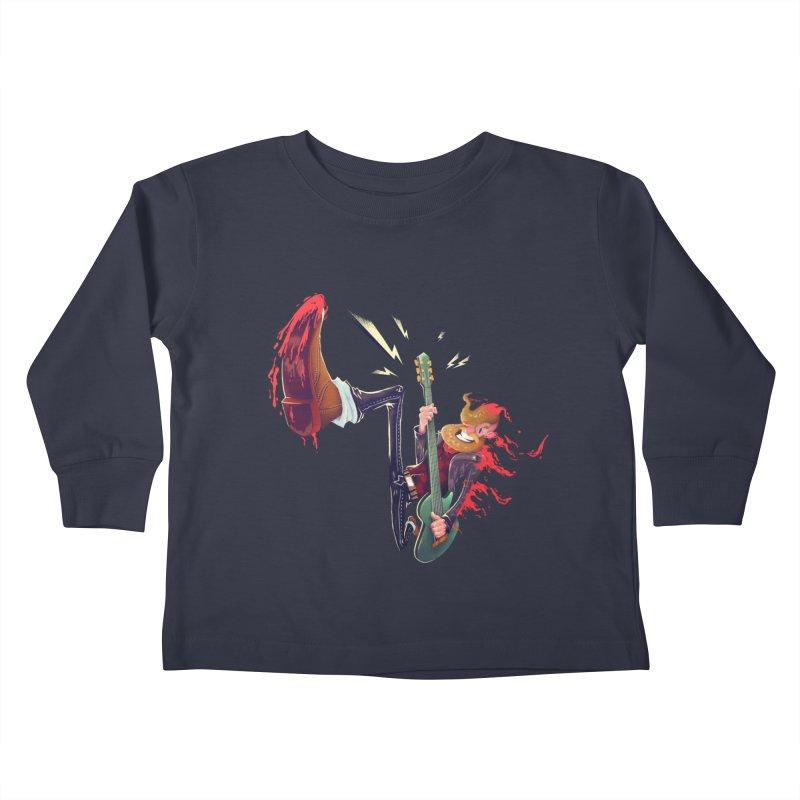 Rock Time! Kids Toddler Longsleeve T-Shirt by Astronauta Store