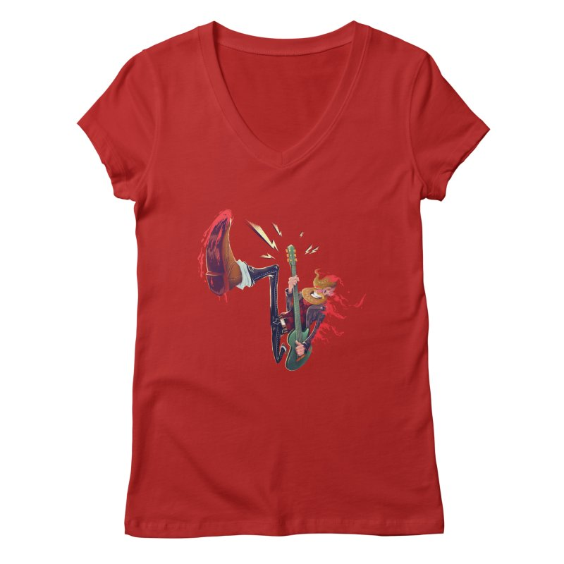 Rock Time! Women's V-Neck by Astronauta Store