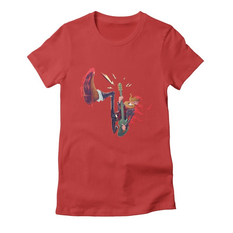 Rock Time! Women's Fitted T-Shirt by Astronauta Store
