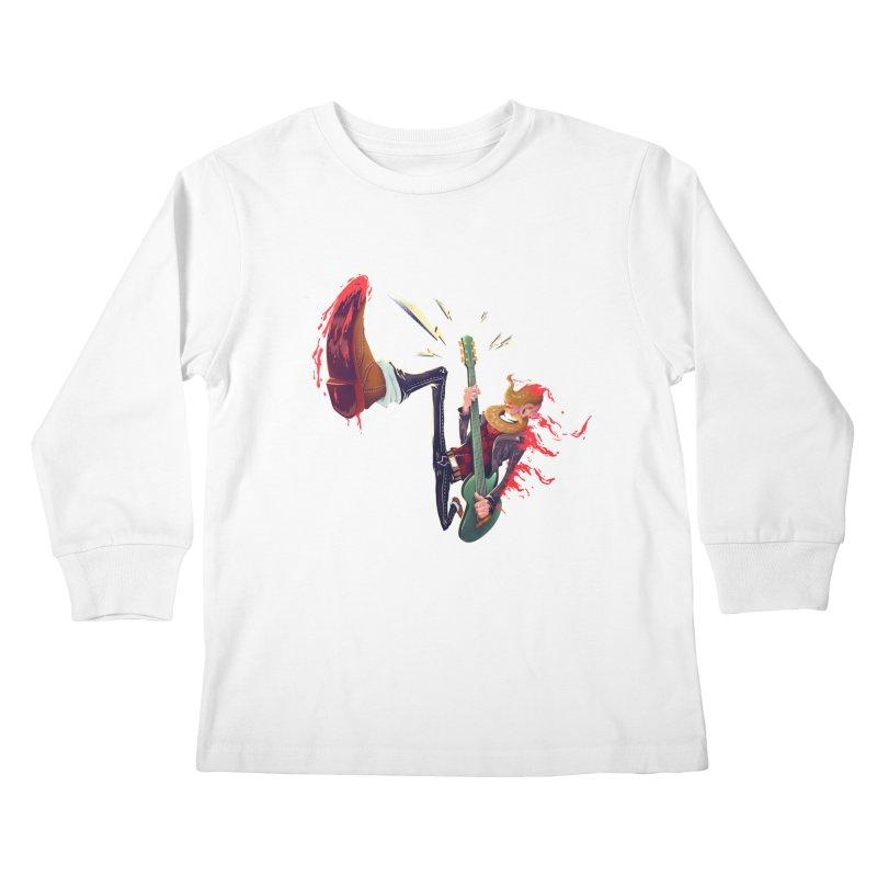 Rock Time! Kids Longsleeve T-Shirt by Astronauta Store