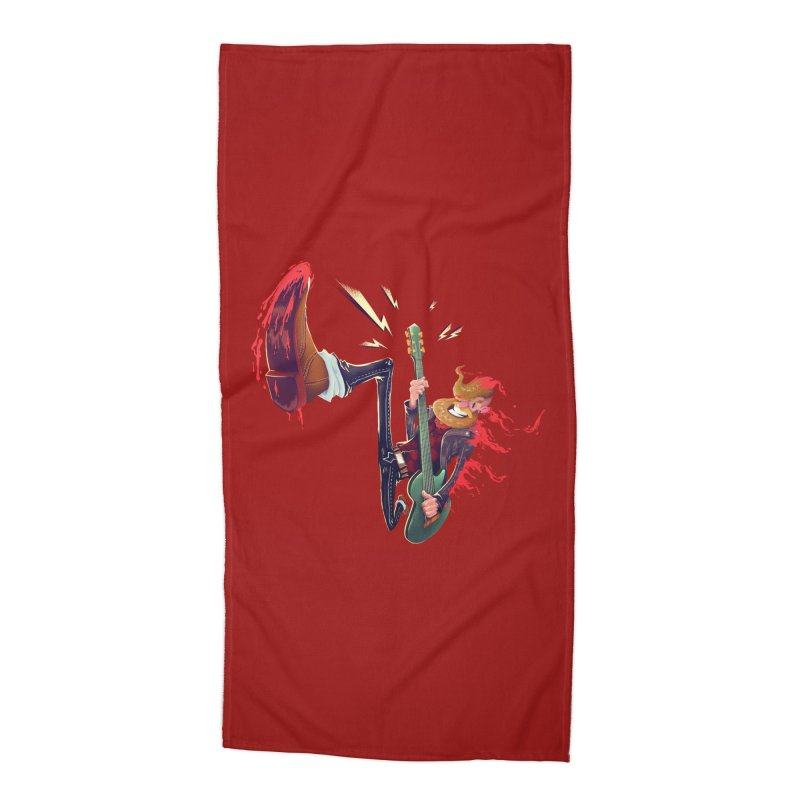 Rock Time! Accessories Beach Towel by Astronauta Store