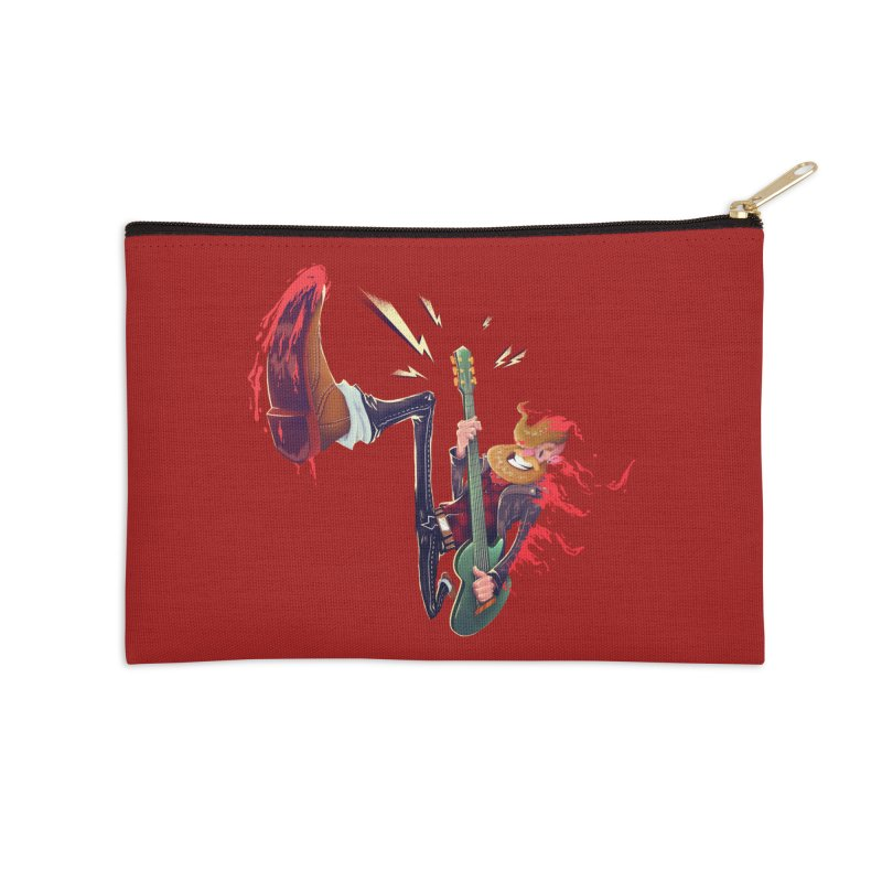 Rock Time! Accessories Zip Pouch by Astronauta Store