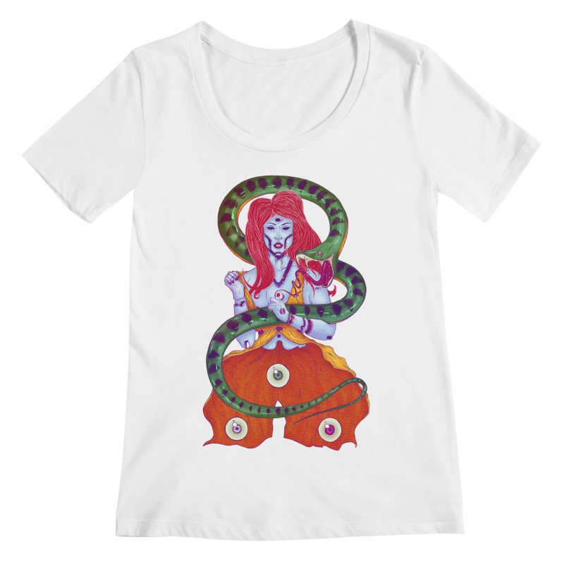 3 Eyes Women's Scoopneck by Astronauta Store