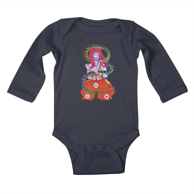 3 Eyes Kids Baby Longsleeve Bodysuit by Astronauta Store
