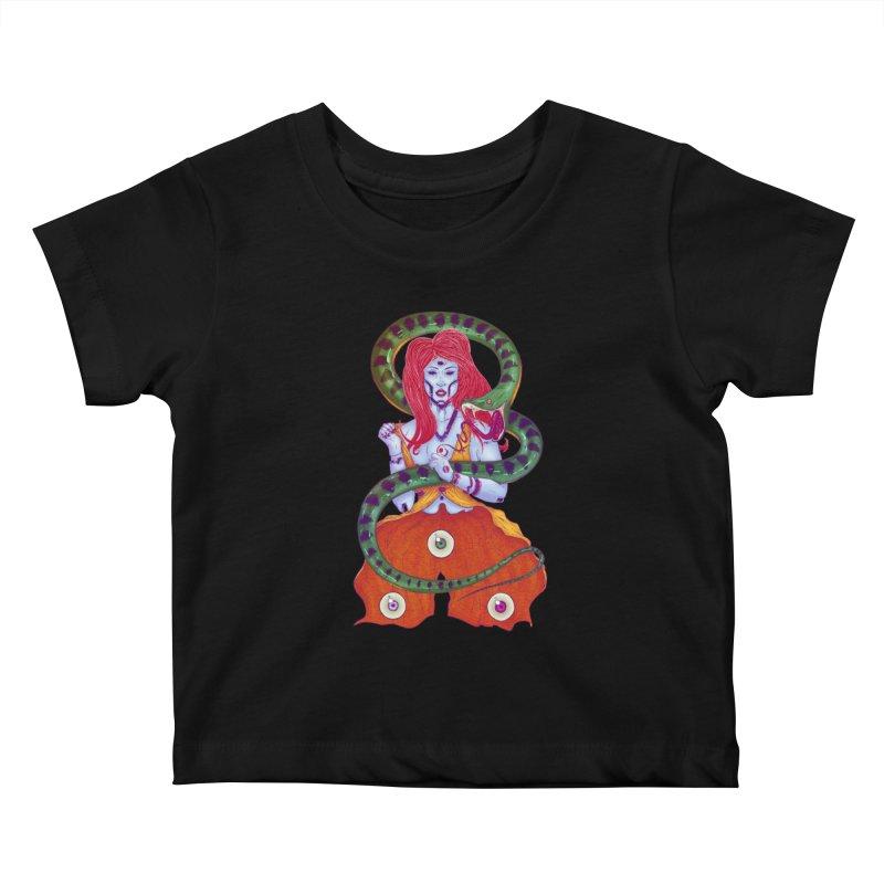 3 Eyes Kids Baby T-Shirt by Astronauta Store