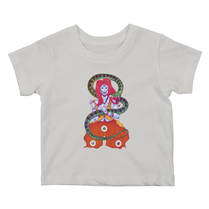 3 Eyes Kids Baby T-Shirt by Astronauta Store