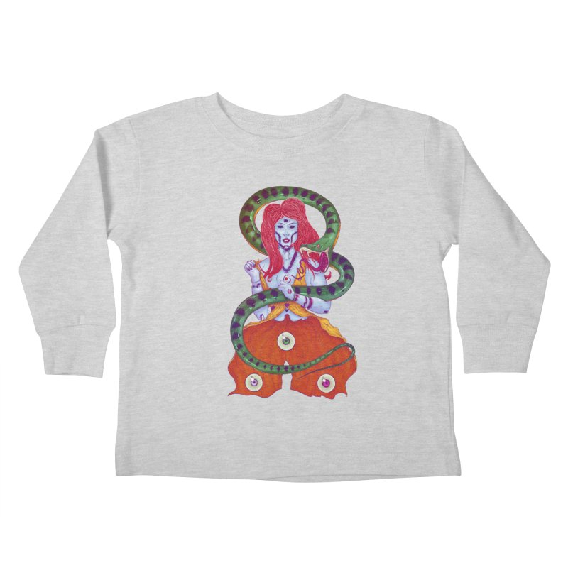 3 Eyes Kids Toddler Longsleeve T-Shirt by Astronauta Store