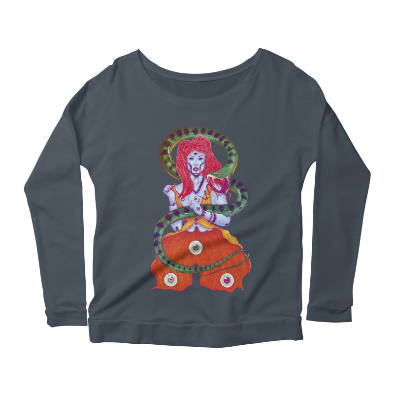 3 Eyes Women's Longsleeve Scoopneck  by Astronauta Store