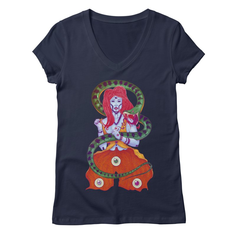 3 Eyes Women's V-Neck by Astronauta Store