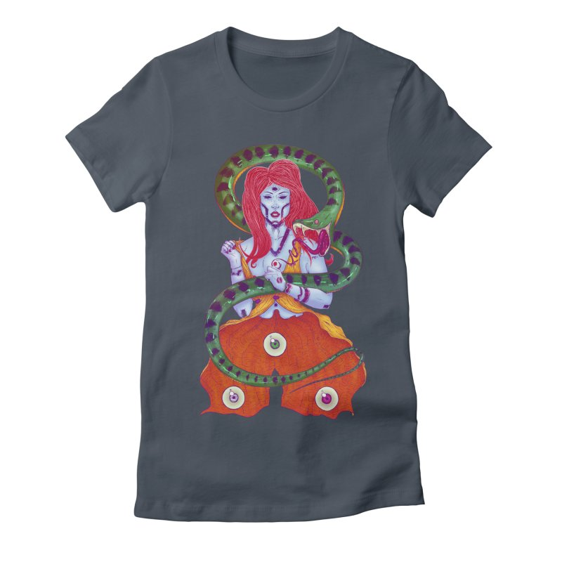 3 Eyes Women's Fitted T-Shirt by Astronauta Store