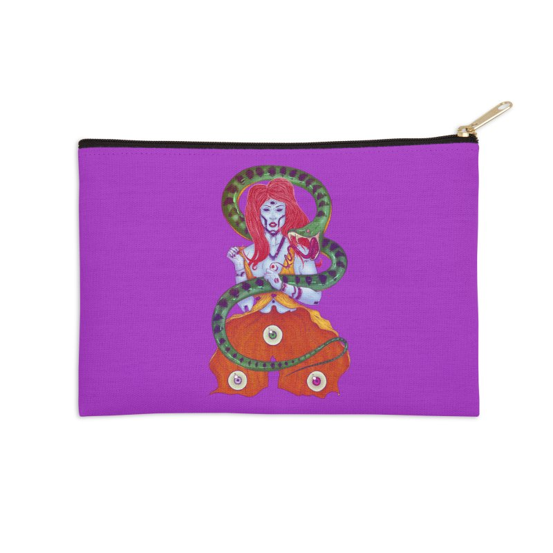 3 Eyes Accessories Zip Pouch by Astronauta Store