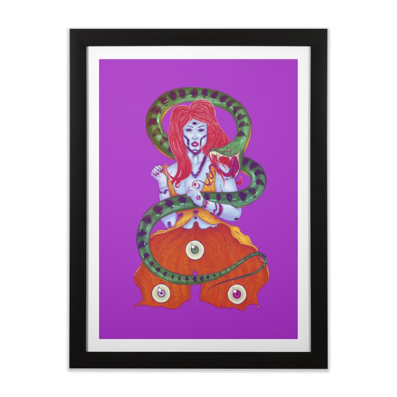 3 Eyes Home Framed Fine Art Print by Astronauta Store
