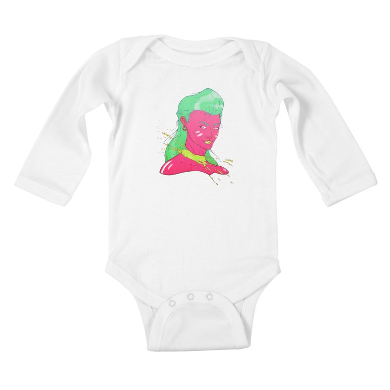 Keep your head up Kids Baby Longsleeve Bodysuit by Astronauta Store